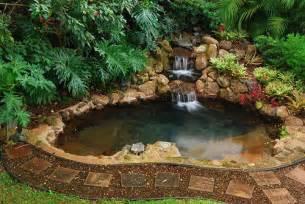 backyard waterfalls backyard waterfall design patio