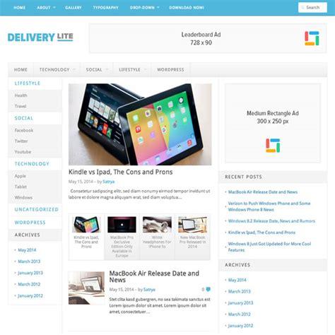 theme junkie responsive adsense uyumlu responsive wordpress teması delivery lite