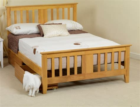 King Size Bed Frame Wooden Sweet Dreams Kestrel 5ft King Size Oak Wooden Bed Frame