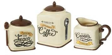 new coffee themed canister sugar bowl creamer kitchen