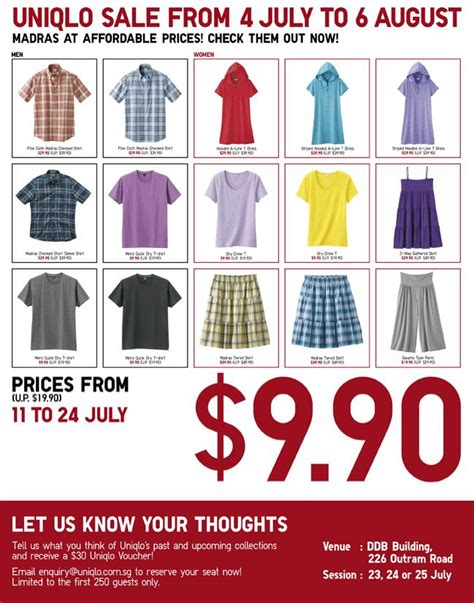 Uniqlo Gift Card Online - uniqlo madras promotion sale great deals singapore