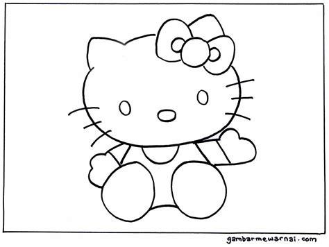 mewarnai gambar hello kitty ayo mewarnai mewarnai hello kitty gambar mewarnai unta pinterest