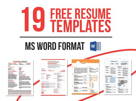 19 free resume templates now in ms word on behance