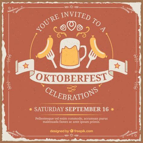 Kostenlose Vorlage Oktoberfest Einladung Zum Oktoberfest Der Kostenlosen Vektor