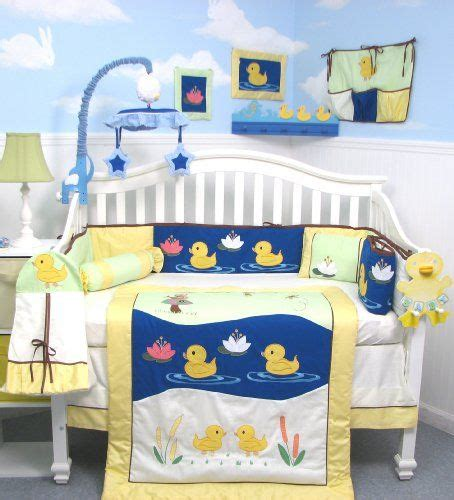 Duck Crib Bedding Soho Quack Quack Ducks Baby Crib Nursery Bedding Set 13