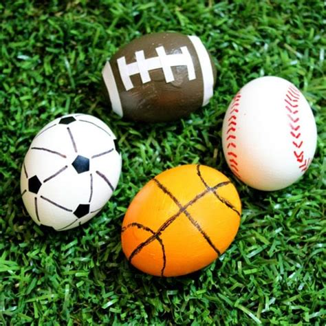 sports easter eggs easter egg decorating ideas for sports fans the style