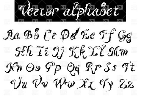eps format fonts type font decorative vector alphabet royalty free