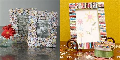 How To Make Photo Frame With Paper - how to make a picture frame from recycled paper green