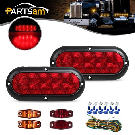 boat lights red trailer boat led light kit red stop turn tail red amber