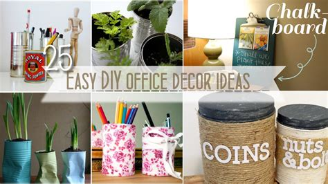 Work Desk Decor by Easy Diy Office Decor Youtube