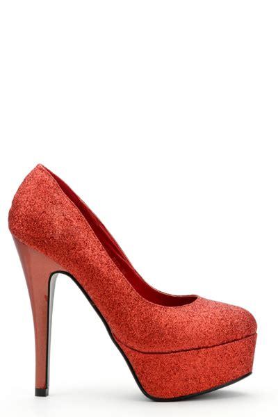 heels 5 cm glitter glossy mewah shiny glitter platform shoes 3 colours just 163 5