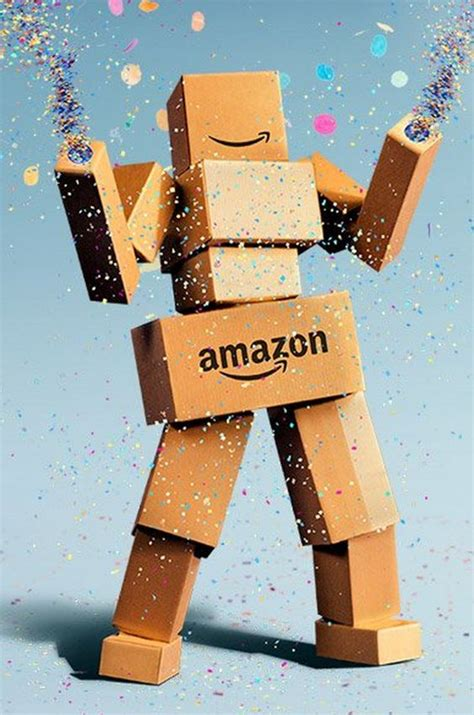 dancing cardboard box robot created  promote amazon