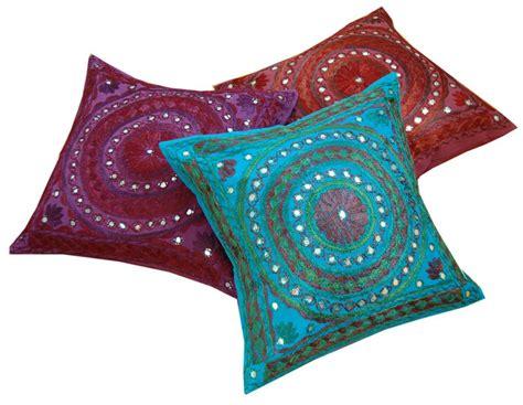 mirrorwork indian cushion covers asian home decor