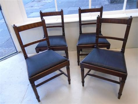 four sheraton period dining chairs 577306