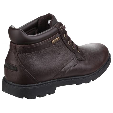 rugged shoes and boots rockport rugged bucks waterproof lace up s brown boots free returns at shoes co uk