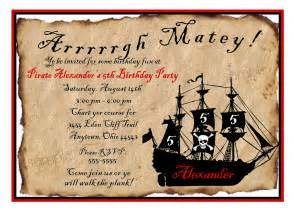 pirate birthday invitations wording drevio invitations design