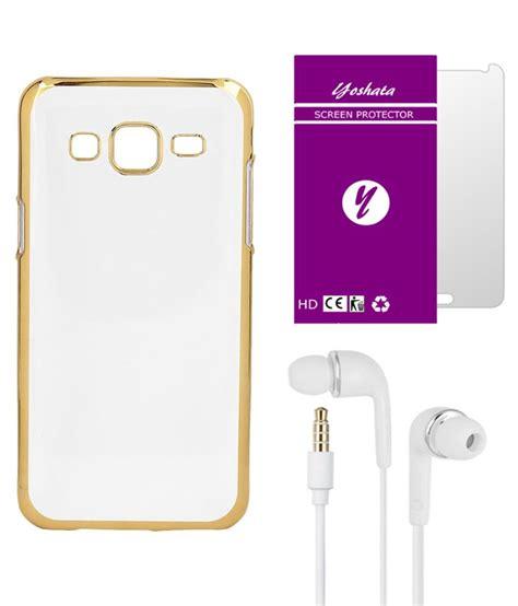 Earphone Samsung E5 yoshata plain back cover for samsung galaxy e5 transparent with screen protector