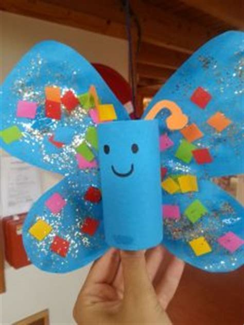Toilet Paper Roll Butterfly Craft - toilet paper roll animals craft idea for preschoolers