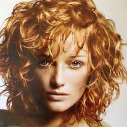 soft curl shaggy hairstyles medium length shagged out curly hairstyle color by