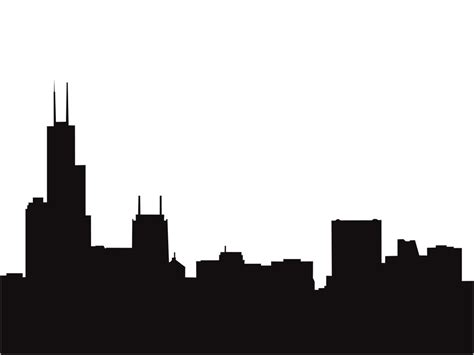 chicago skyline outline clipart best