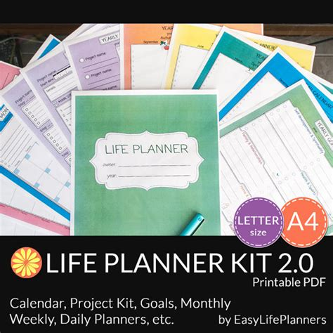 instant business letter kit planner kit a4 letter size 12 by easylifeplanners