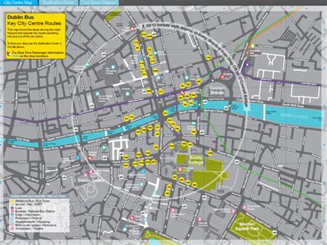 printable route planner ireland dublin city centre map pdf my blog