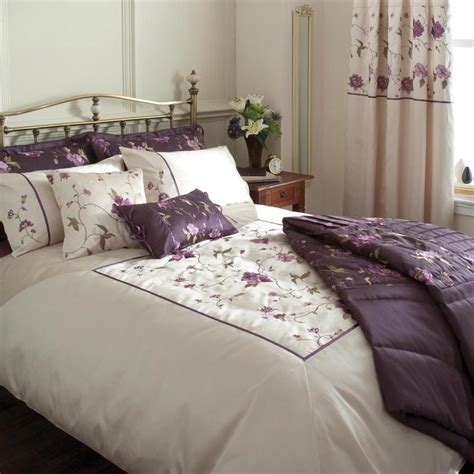 purple floral bedding cream purple floral duvet or curtains or bedspread