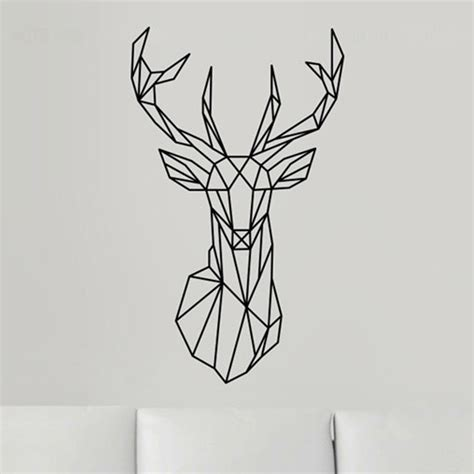 Wire Tree Wall Hanging Home Decor by 2016 New Design Geometric Deer Head Wall Sticker Geometry