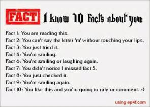 facts about i i know 10 facts about you quotes pinterest facts