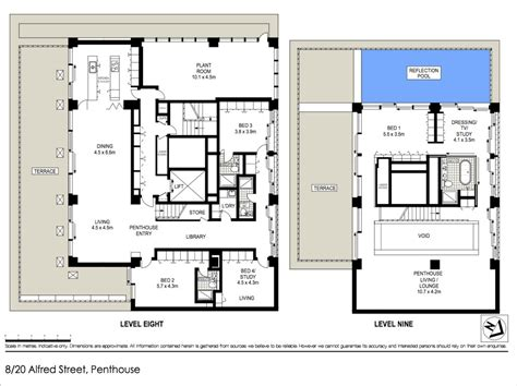 penthouse floor plan world of architecture sydney harbour bridge penthouse for