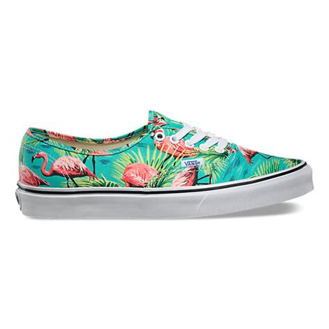 Vans Flamingo Pattern | van doren authentic shop classic shoes at vans