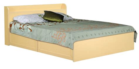 Rs For Bed by Bed With Two Storage Drawers In Light Ash Finish By