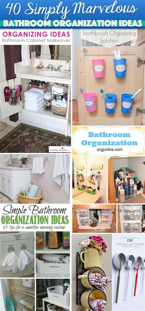 simply marvelous bathroom organization ideas   rid