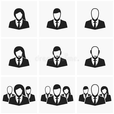 icone degli impiegati di ufficio illustrazione vettoriale
