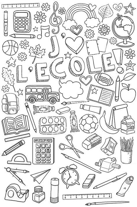 doodle qui amène quoi affaires d 233 cole 224 colorier crpe colorier