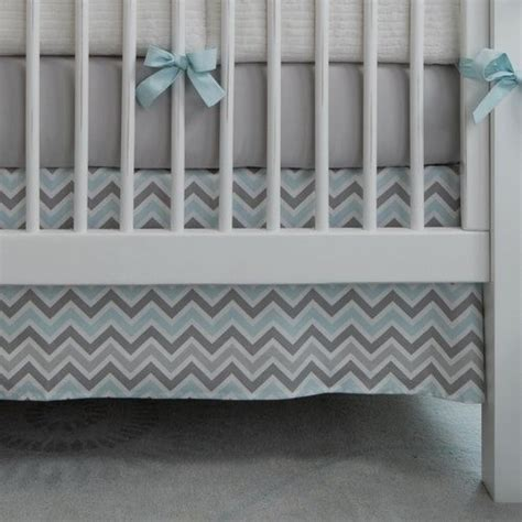 Blue Chevron Crib Bedding Blue And Grey Chevron Baby Bedding