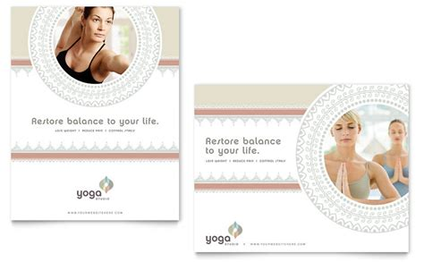 Pilates & Yoga Poster Template   Word & Publisher