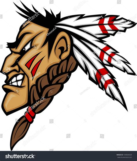 cartoons on native americans of central and south america cartoon native american indian brave mascot stock