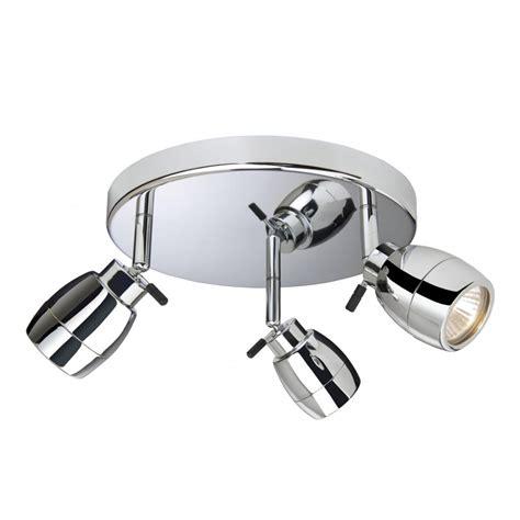Bathroom Spot Lighting Firstlight Marine 3 Light Halogen Bathroom Ceiling Spot Fitting In Polished Chrome Firstlight