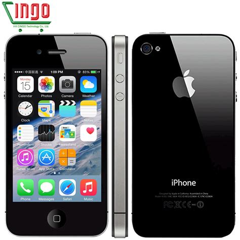 Apple 4 32gb Cell 100 original iphone 4 apple 4 factory software unlocked 16 32gb cell phone 3 5 inch touchscreen