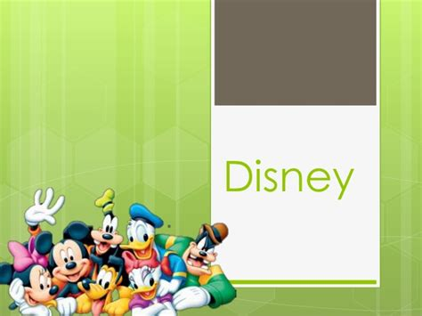 Disney Walt Disney Powerpoint Template