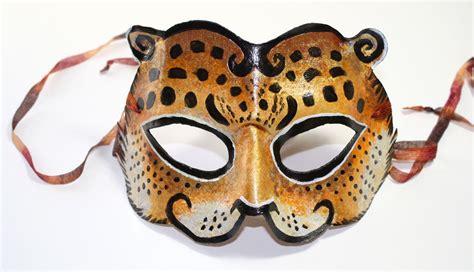 big cat jaguar mask venetian mardi gras carnival