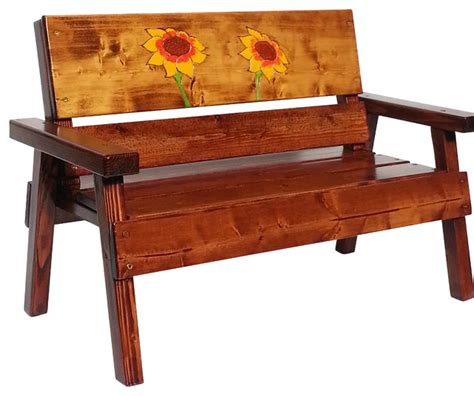 engraved benches happy chairs bench engraved sunflower design rustic