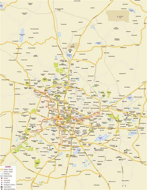bangalore city map images map of bangalore browse info on map of bangalore