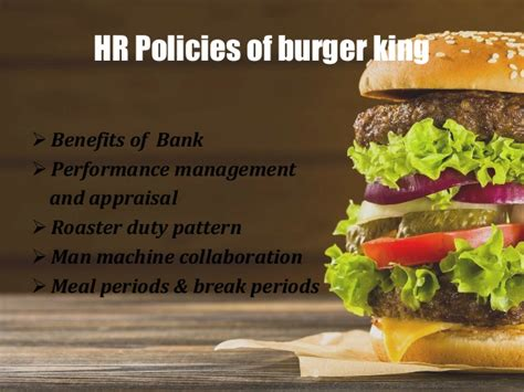 Burger King Corporation Mba Leadership Program Salary by Burger King Hr Policies And Own Hr Policies In Imaginary