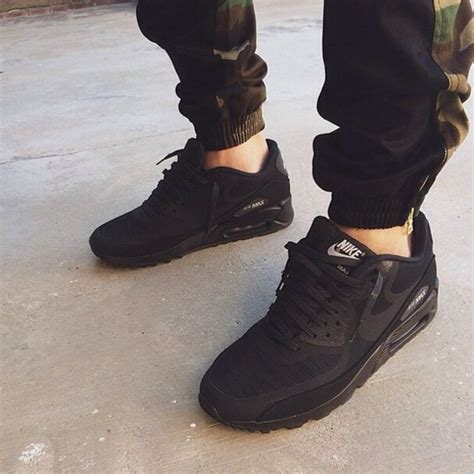 shoes black all black everything nike nikes air max