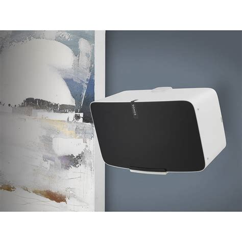 sonos play 5 wohnzimmer flexson wall mount for sonos play 5 white wifimedia