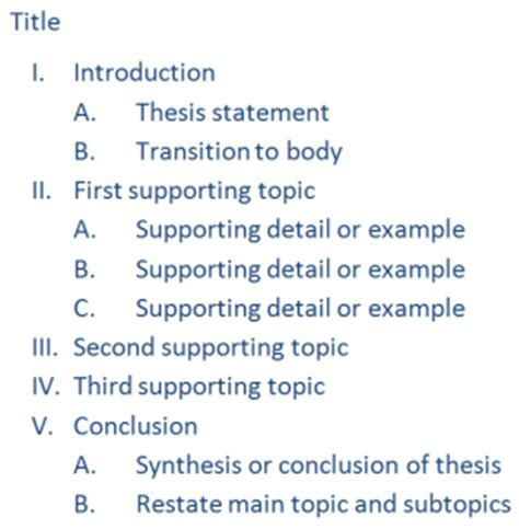 How To Make A Paper Outline - wsu empower choosing your topic