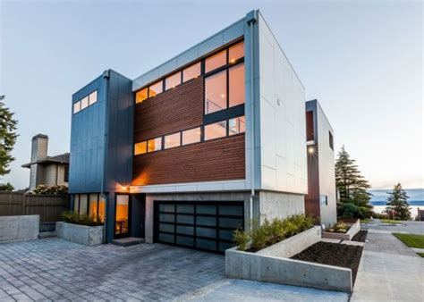modern american architecture modern aurea home in seattle blends bright interiors and