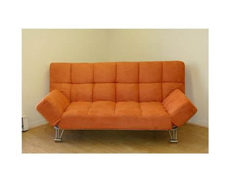 Orange Futons by Jm Uptown 203 177 Microfiber Orange Klick Klack Futon
